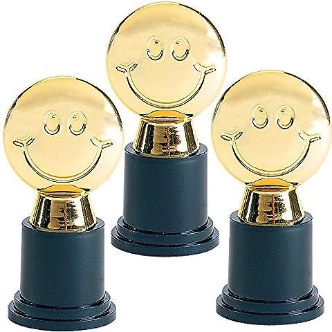 German Trendseller® - mini coupe smiley┃remise d'un prix ┃anniversaire d'enfant┃trophée┃imiter