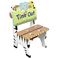 Fantasy Fields by Teamson Sunny Safari Childrens Wooden Naughty Time Out Chair Kids Seat