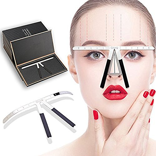 Cenblue Permanent Tattoo Augenbrauen Lineal - Make-up Schablonen Lineal Edelstahl Frauen Schönheit Werkzeug für Augenbrauen Positionierung Grooming Microblading Messen