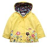 Imposes Kinder Mädchen Regenjacke Regenmantel Wasserdichte Jacke Übergangsjacke mit Kapuze