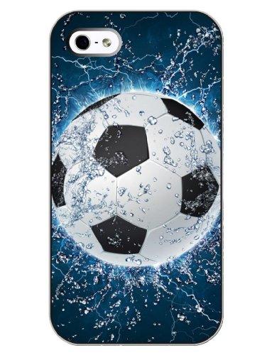 SUPER-CASE iphone cover iCreat schönes Design mit Fußball, Gemaltes iphone Hülle Gehäuse Hartschale harte Rückseite für IPHONE 5 5G 5S (Iphone 5s Fall Cool)