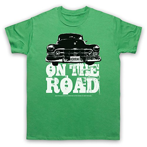 Jack Kerouac On The Road Car Herren T-Shirt Grun