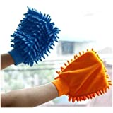 [Sponsored]KAAS Microfiber Dusting Cleaning Glove For Home, Office Cleaning, Kitchen Cleaning Gloves (Pack Of 2)