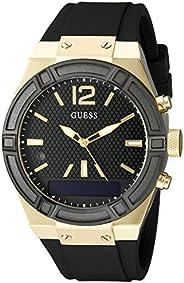 Guess Damen Datum klassisch Quarz Uhr mit Edelstahl Armband C0002M3