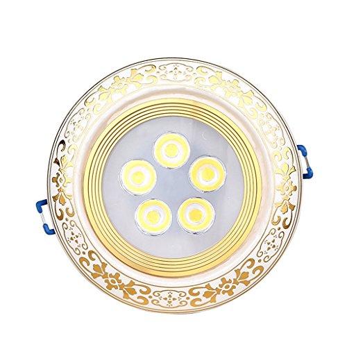 Wddwarmhome Les projecteurs rétro ont mené le plafonnier en céramique de lumières du couloir 5W de plafond Downlight 2pcs