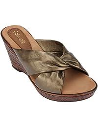 Catwalk Bronze Slip-on Sandals