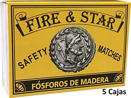 FIRE & STAR 5 große Streichhölzerne oder Sicherheitsposphoren für Grill, Öfen, Kamin und offene Herde, 5 cm (500 Stück)