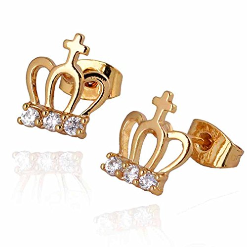 yazilind-elegant-18k-gold-plated-inlay-round-clear-cubic-zirconia-crown-design-small-stud-earrings-f