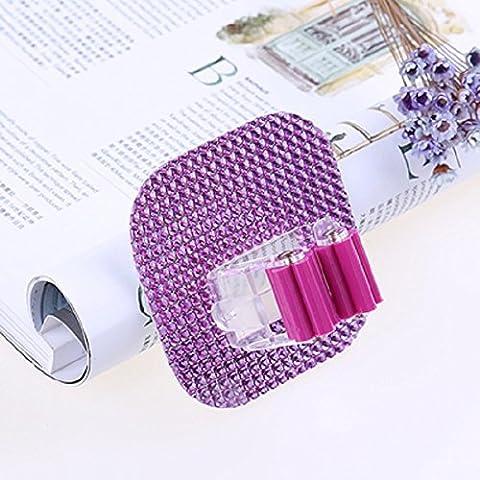 Lugii Cube Support mural pour serpillère Balai de salle de bain de cuisine Autocollant de brosse Cintre Home Organiseur outils, violet