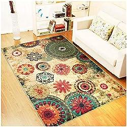 IOE Alfombra de salón Moderna y Minimalista alfombras de Piso con Estampado Vintage, hogar y Tienda de exhibición de alfombras (Color : C, Tamaño : 130 * 190cm)