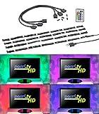 Lunartec TV Beleuchtung: TV-Hintergrundbeleuchtung mit 4 RGB-Leisten für 117-177 cm, USB (LED TV Hintergrundbeleuchtung USB)