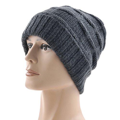 Lana Cappelli uomo/Autunno e inverno all'aperto cappello/Orecchio caldo berretto a maglia-C Unica