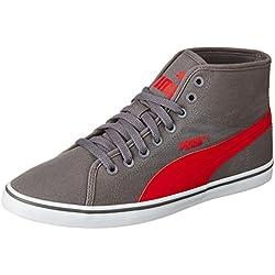 9912ac7a88cf Puma Men s Elsu V2 Midcv Grey and Red Sneakers - 8 UK India (42