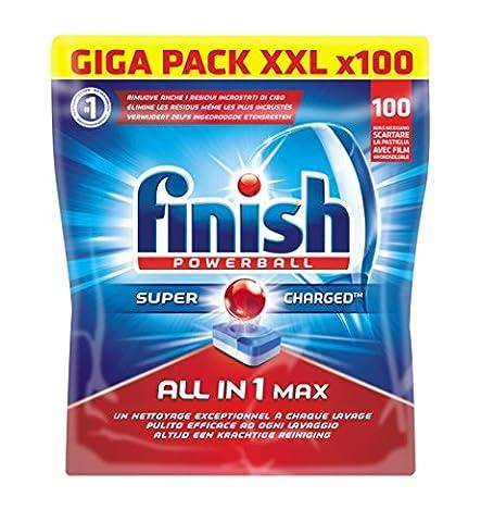 Finish Pack de 100 Lave Vaisselles Tablettes Multifonctions Tout en