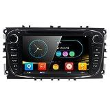 Double 2 DIN 17,8 cm Lecteur DVD de Voiture GPS Navi Bluetooth Camera pour Ford Mondeo Focus S-Max