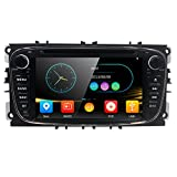 Doppel 2Din 17,8cm Auto DVD Player GPS Navi Bluetooth Kamera für Ford Mondeo Focus S-Max