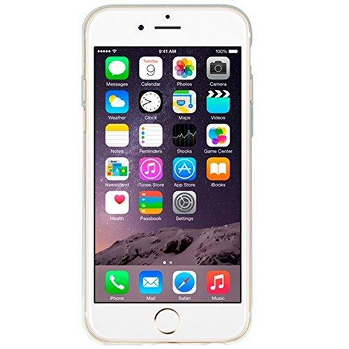 Phone case & Hülle Für IPhone 6 Plus / 6S Plus, Eisskulpturen TPU Schutzhülle mit Griff ( Color : Pink ) Blue