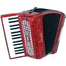 Scarlatti Accordions JH2024 AL0011F - Acordeón de teclas, color rojo