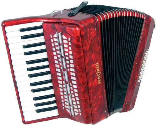 Scarlatti 24 Bass Akkordeon, Rot