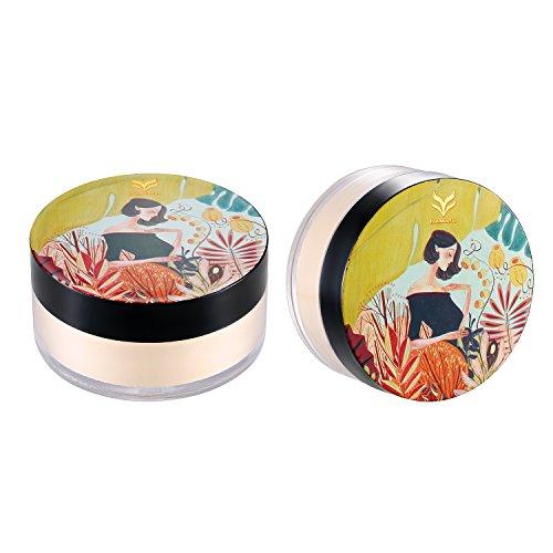 JewelryWe Pourdre Libre Matifiante Loose Powder Poudre de Fixation Durable adaptée au flash pour peaux claires Couleur Naturelle de la peau