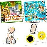 Orinal de entrenamiento para niños pequeños–2pegatinas verfärbende sol + Recompensa programa doble Juego Safari y Piratas