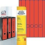 Avery Zweckform L4748-20 Ordner-Etiketten (A4, Rückenschilder, blickdicht, 100 Stück, 38 x 297 mm) 20 Blatt rot