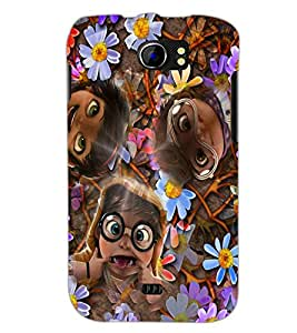 PrintDhaba Faces D-2622 Back Case Cover for MICROMAX A110Q CANVAS 2 PLUS (Multi-Coloured)
