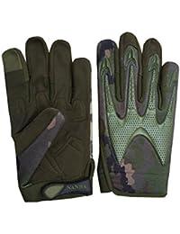 Tactical Mechanic Gloves Hunting, Race, Air-soft, Safety full Finger L013 (Medium)