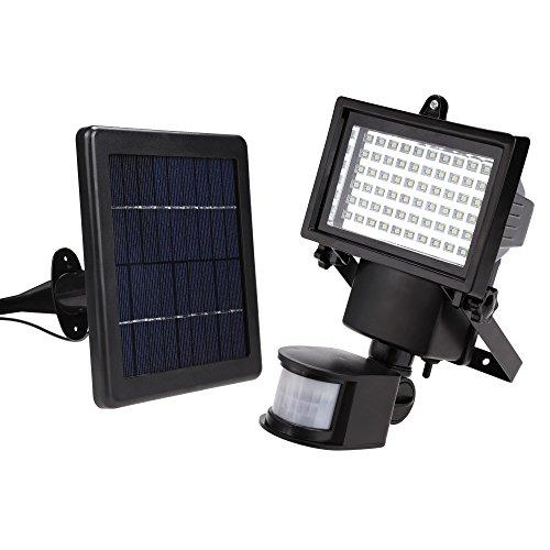 Preisvergleich Produktbild Befied Solar LED Flutlicht im Freien wasserdicht Korridor Beleuchtung Garten Flutlicht, menschlichen Körper Sensor, super hellen, Schwarz