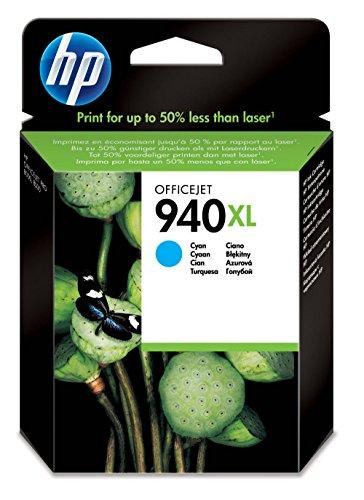 HP 940XL Cartouche d'Encre Cyan Grande Capacité Authentique (C4907AE)