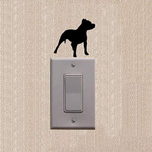 WFYY 5 stück Schalter Aufkleber wandaufkleber DIY Tier Pitbull Hund Cartoon Schalter Mode Aufkleber Vinyl wohnkultur Wand