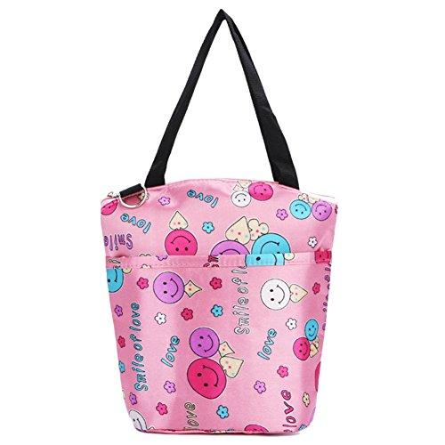 Mittagessen Beutel Warm Halten Handtasche Multifunktions Mama Tasche Braun Herz Rose Lächeln
