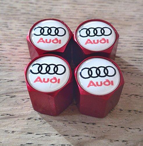 Speed Demons AUDI LOGO blanc S ligne rouge roue Valve capuchons anti-poussière exclusifs pour nous tous modèles RS TT A1 A2 A3 A4 A5 A6 S1 S2 S3 S4 S5 S6 Q7 A8 Capuchon de valve