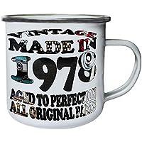 Vintage Original Hecho en 1978 Retro, lata, taza del esmalte 10oz/280ml u702e