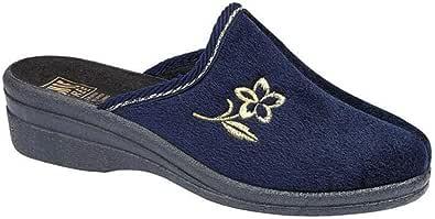 """Comode e calde pantofole da casa da donna modello """"Helen"""" con suola antiscivolo, disponibili nei numeri dal 35,5 al 42"""