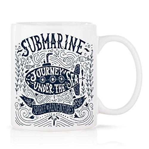 Tasse mug petit-déjeuner de porcelaine blanche 30 cl. modèle Submarine