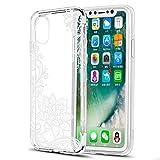 Eouine Coque iPhone XS, Coque iPhone X, Etui en Silicone 3D Transparente avec Motif...