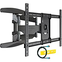 Invision® Ultra Strong TV Wall Bracket Mount - For 37 - 70 Inch LED LCD Plasma & Curved Screens – Double Arm Tilt Swivel Feature – Includes 1080p HDMI Cable & Spirit Level *Please Confirm Your TV VESA Mounting Holes Before Purchase* (HDTV-DXL)