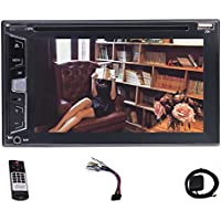 Eincar NEW 6.2'' Double 2 Din Car Stereo DVD Player 1080p Capacitive Touch Screen Head unit Autoradio support GPS Navigation Bluetooth USB AM FM RDS Free Rear Camera + 8GB Map Card + Remote Control