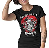 1500-Game of Thrones - Mother of Dragons, Disponible En Camiseta o Taza (L, Negro - Mujer)