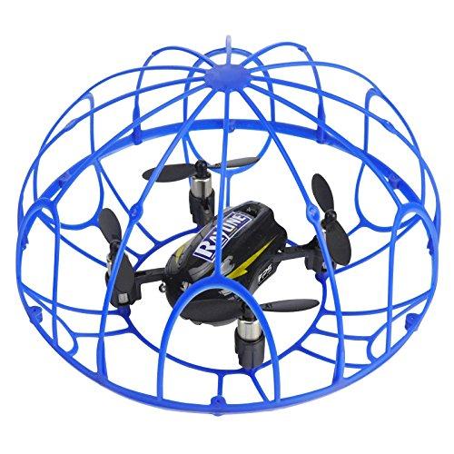 FPS RTF Bundle: Rayline RX3, Schwarz, 2.4G RC NANO Drohne Training Mini Quadrocopter, Trainingsdrohne mit Käfig, Übungsdrohne, 6 Achsen Gyro, flexibler Schutzkäfig, 3D Flips, inkl. Akku & 3xAA - 2