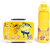 [Sponsored]Jayco Insulated Water Bottle Cool Quench With Dora Ben 10 Sponge Bob Peanut Lunch Box Set (Sponge Bob, 1000 ML)