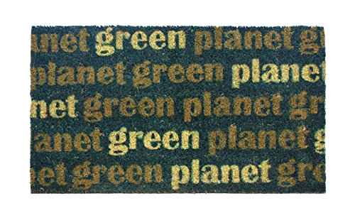 DINTEX GREEN PLANET - FELPUDO DE COCO ANTIDESLIZANTE  40 X 70 CM  COLOR VERDE
