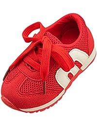 Ouneed ® Niños bebé 1-6 años niño niñas deportes correr zapatillas de malla plana mocasines zapatos
