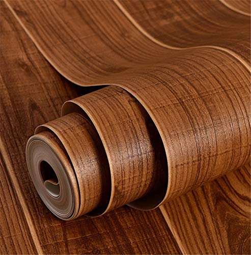 Tapetenrolle Heimwerker Chinesische Holzmaserung Wasserdicht Braun Für Küchentheke Möbel Schrank Regal Tisch Renoviert (W) 0,53X (H) 10 Mt (Renoviert, Schlafzimmer-möbel)