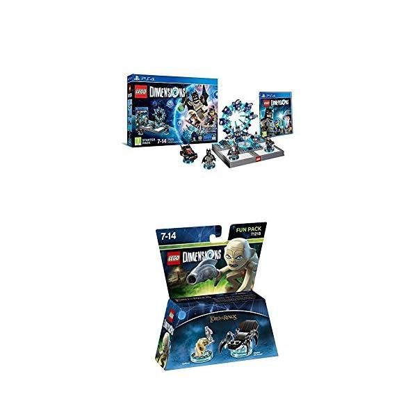 LEGO - Starter Pack Dimensions (PS4) + LEGO Dimensions - Figura El Señor De Los Anillos, Gollum 1