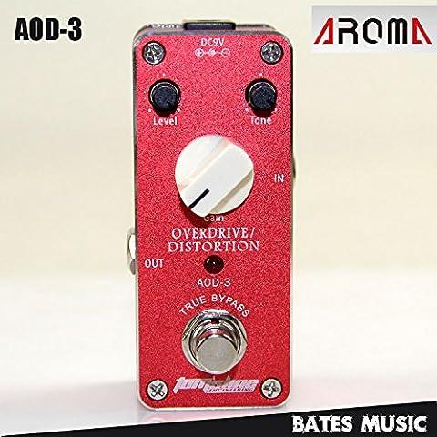 Ozuzu (TM)-MINI effetti a pedale, Aroma AOD distorsione Overdrive/3-Adattatore AC/DC Jack True bypass