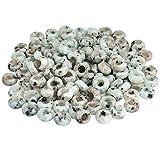KYEYGWO - Paquete de 20 cuentas sueltas de piedra pulida con agujero grande para bisutería, para pulsera de abalorios europeas.