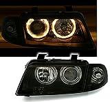 AD Tuning GmbH & Co. KG 960358 Angel Eyes Scheinwerfer Set, Klarglas Schwarz