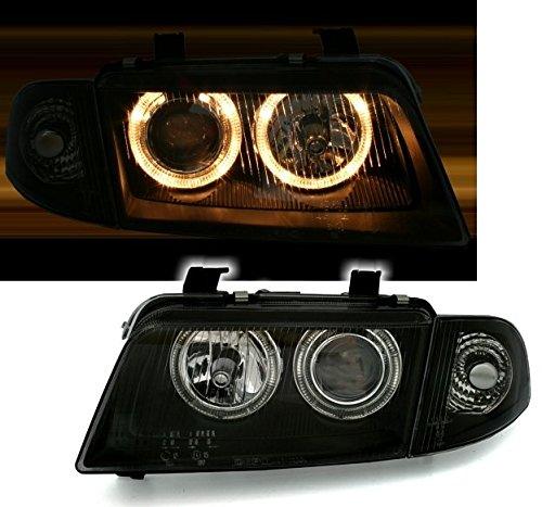 AD Tuning GmbH & Co. KG 960358 Angel Eyes Scheinwerfer Set, Klarglas Schwarz (B5 Scheinwerfer Audi)